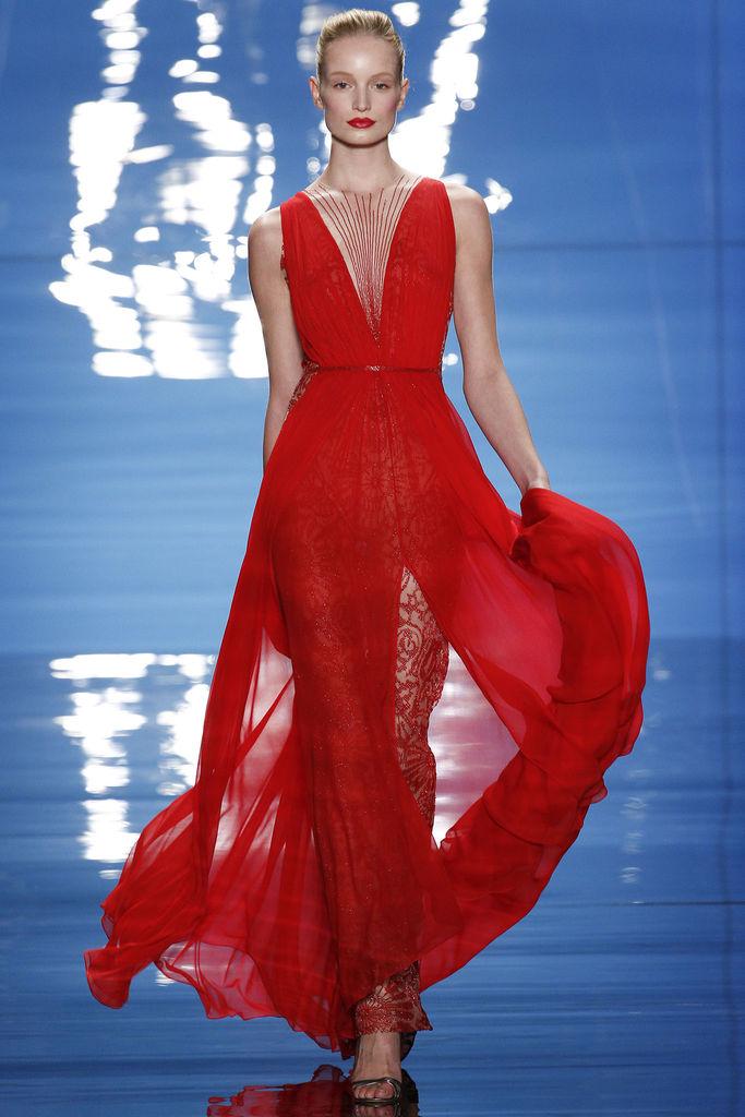Reem Acra Red Dress |