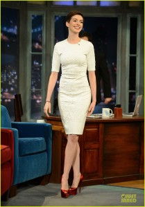Anne Hathaway at Jimmy Fallon