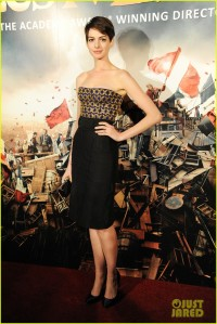 Anne Hathaway in a Altuzarra Top and Skirt