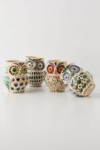 Handpainted Folk Owl Mug from Anthropologie