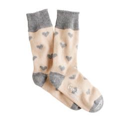 J Crew Cashmere Heart Socks