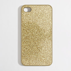 J Crew Metallic Glitter Iphone Case