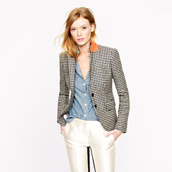 Collection Schoolboy Blazer in Houndstooth Wool